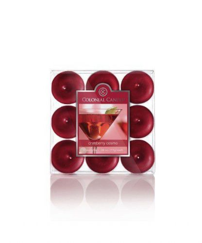Colonial Candle Pack Of Tea Lights - Scented Candle Cranberry Cosmo Fruity Fragranced Candles